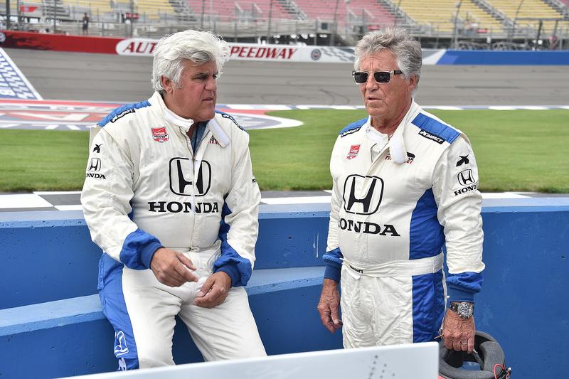 Jay Leno and Mario Andretti