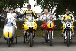 John Surtees and Valentino Rossi, Yamaha Factory Racing and Giacomo Agostini and Kenny Roberts