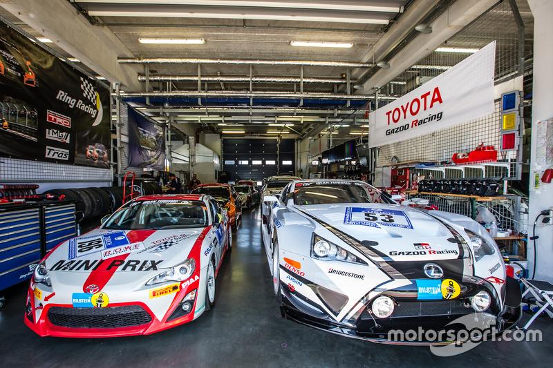 #196 Toyota Swiss Racing Team Toyota GT86 and #53 Gazoo Racing Lexus LFA Code X
