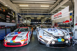 #196 Toyota Swiss Racing Team Toyota GT86 and #53 Gazoo Racing Lexus LFA Code X