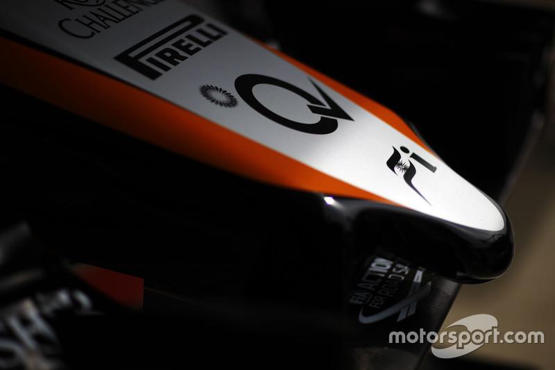 Sahara Force India F1 VJM08 nosecone