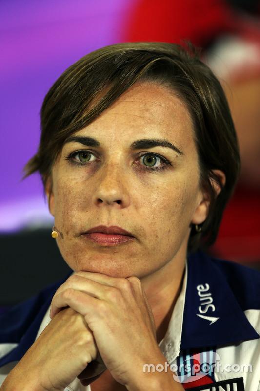 Claire Williams, Заступник керівника команди Williams на пресс-конференції FIA