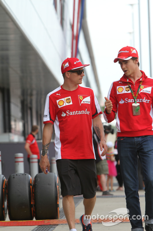 Kimi Raikkonen, Ferrari with Esteban Gutierrez, Ferrari Test and Reserve Driver