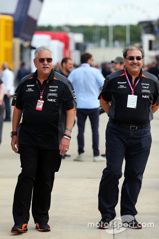 Dr. Vijay Mallya, Sahara Force India F1 eigenaar