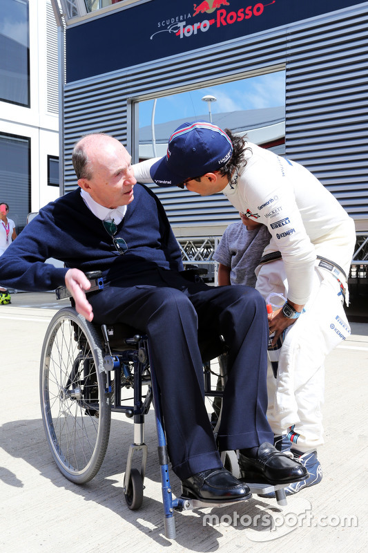 Frank Williams, Williams Team Owner with Felipe Massa, Williams