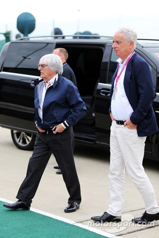 Bernie Ecclestone mit seinem Anwalt Ali Malek