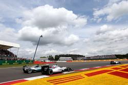 Lewis Hamilton, Mercedes AMG F1 Team and Valtteri Bottas, Williams F1 Team