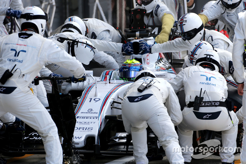 Felipe Massa, Williams F1 Team durante un pitstop