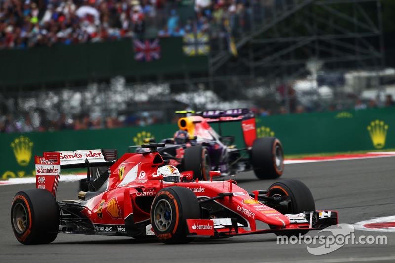 Sebastian Vettel, Ferrari SF15-T.