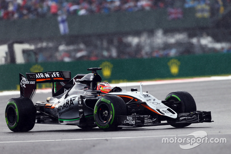 Ніко Хюлкенберг, Sahara Force India F1 VJM08 під дощем.
