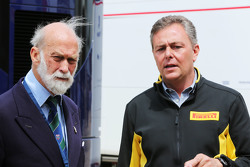 Prins Michael van Kent, met Mario Isola, Pirelli Racing Manager