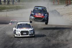 Mattias Ekström, EKSRX Audi S1 quattro, und Timmy Hansen, Team Peugeot Hansen