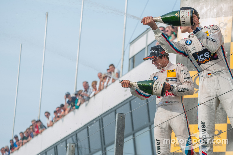 Second place Antonio Felix da Costa, BMW Team Schnitzer BMW M4 DTM and winner Marco Wittmann, BMW Te