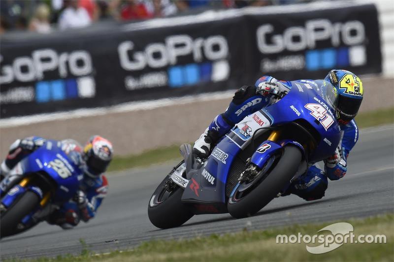 Aleix Espargaro and Maverick Vinales, Suzuki - German GP 2015
