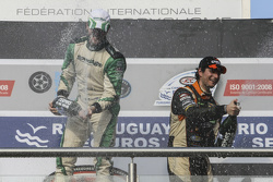 Podium Agustin Canapino, Jet Racing Chevrolet and Juan Marcos Angelini, UR Racing Dodge (left to rig