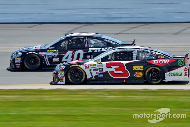 Landon Cassill, Hillman Circle Sport LLC Chevrolet, dan Austin Dillon, Richard Childress Racing Chevrolet