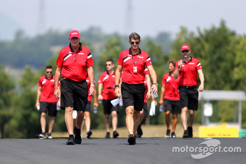 John Booth, Team Principal, Manor F1 Team and Graeme Lowdon, Manor F1 Team Chief Executive Officer