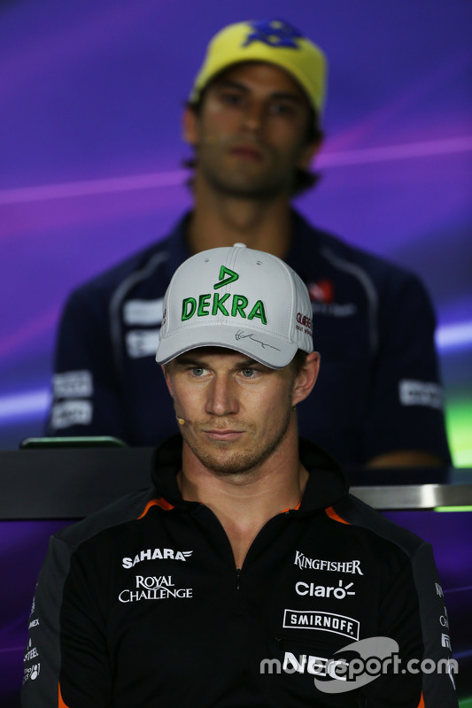 Nico Hulkenberg, Sahara Force India F1 in de FIA persconferentie