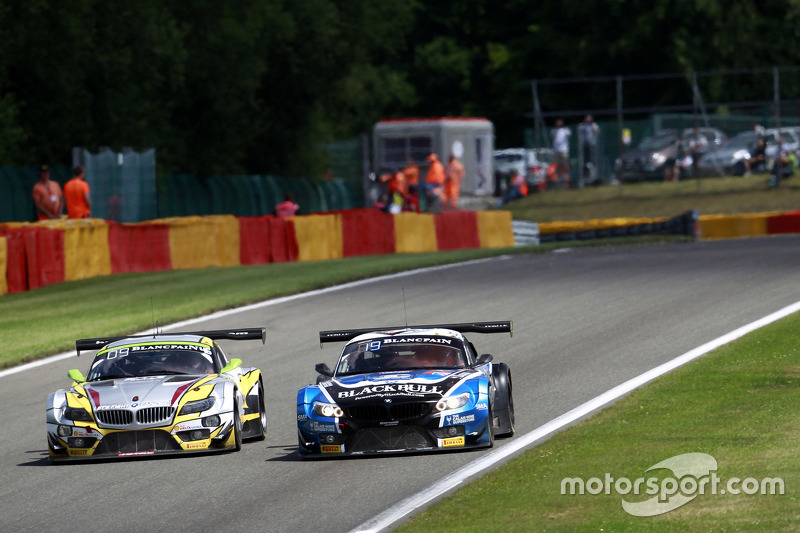 #46 Marc VDS Racing Team BMW Z4: Markus Palttala, Nicky Catsburg, Lucas Luhr and #79 Ecurie Ecosse B