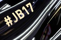 La Lotus F1 E23 avec un hommage à Jules Bianchi