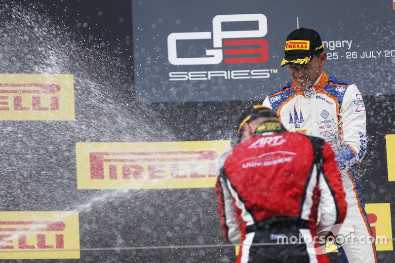 Race winner Luca Ghiotto, Trident