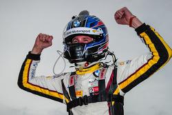 Race winner Nicky Catsburg celebrates