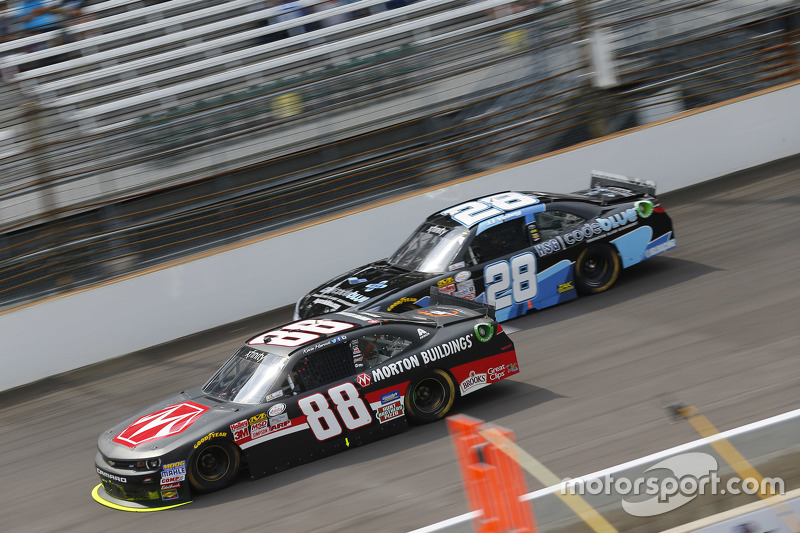 Kevin Harvick, JR Motorsports Chevrolet and J.J. Yeley
