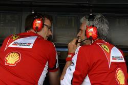 Джеймс Еллісон, Ferrari технічний директор, з Мауріціо Аррівабене, Керівник Scuderia Ferrari