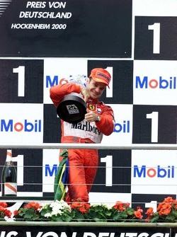 Ganador de la carrera Rubens Barrichello, Ferrari