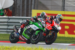 Jonathan Rea, Kawasaki and Chaz Davies, Ducati Team