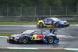 Mattias Ekström, Audi Sport Team Abt Sportsline, Audi A5 DTM memimpin Gary Paffett, ART Grand Prix Mercedes-AMG C63 DTM