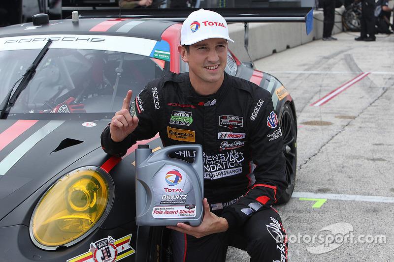 GTC polesitter #73 Park Place Motorsports Porsche 911 GT America: Patrick Lindsey