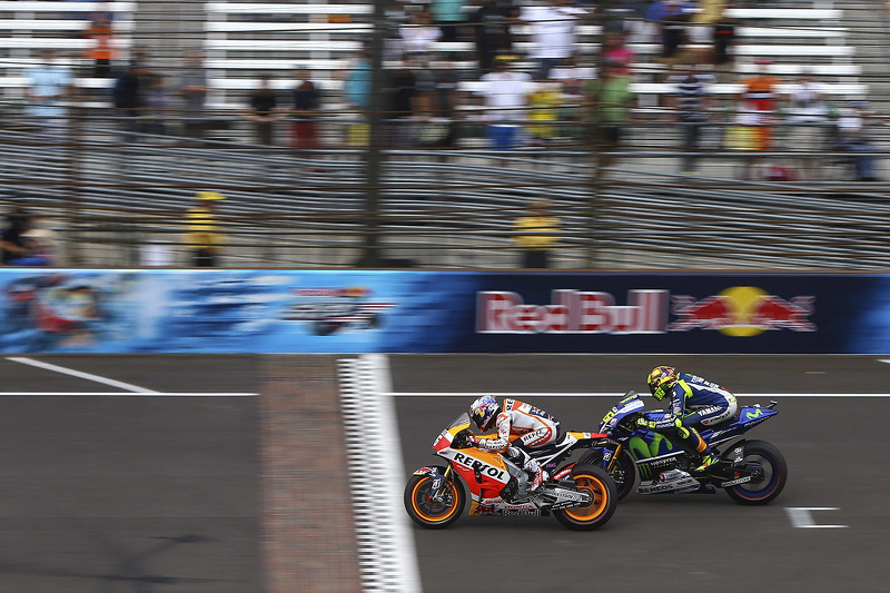Valentino Rossi, Yamaha Factory Racing dan Dani Pedrosa, Repsol Honda Team