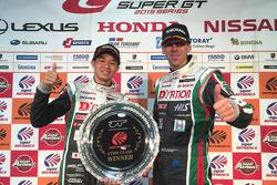 Podium: race winners Daiki Sasaki, Michael Krumm