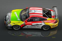 Romain Dumas presentación especial para el Rally de Alemania con los colores de Porsche que han dado forma a su carrera