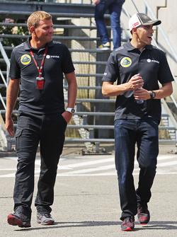 Pastor Maldonado, Lotus F1 Team con Fabrizio Maganzi, Lotus F1 Team entrenador personal
