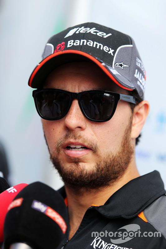 Sergio Perez, Sahara Force India F1, conversa com jornalistas