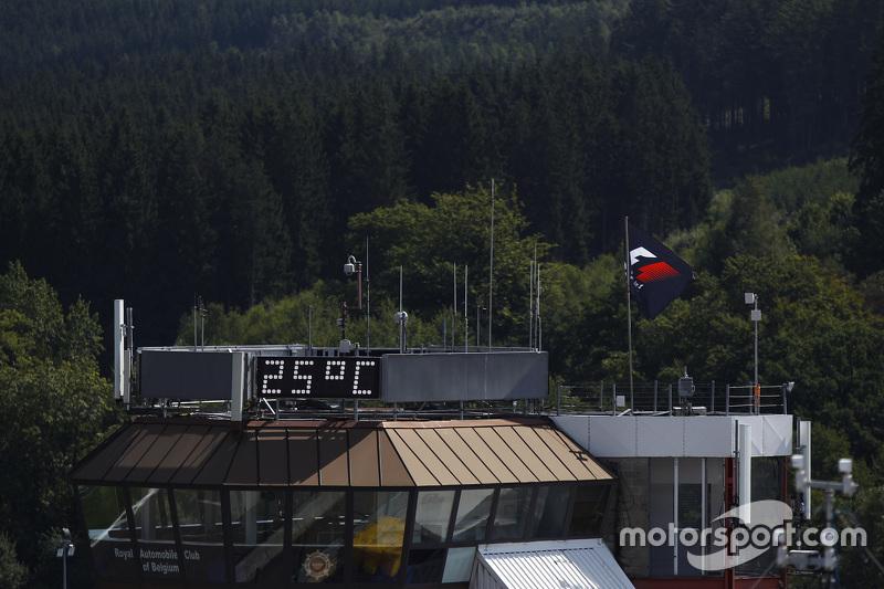 Tampilan suhu 25C di atas paddock lama