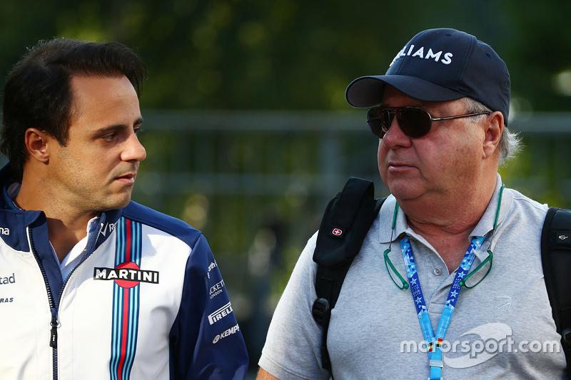 (Kiri ke Kanan): Felipe Massa, Williams dengan ayahnya Luis Antonio Massa