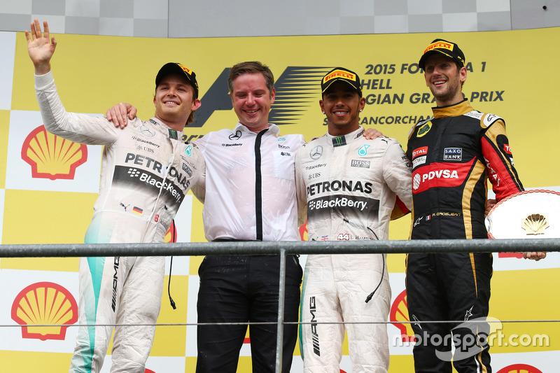 Posisi Pertama Lewis Hamilton, Mercedes AMG F1 posisi kedua Nico Rosberg, Mercedes AMG F1 dan posisi