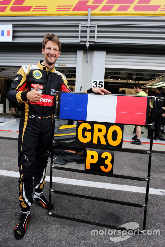 romain grosjean lotus f1 team f te sa troisi me place avec l 39 quipe gp de belgique photos. Black Bedroom Furniture Sets. Home Design Ideas