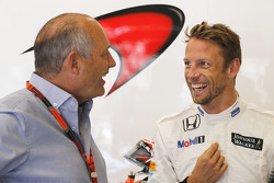 Ron Dennis and Jenson Button, McLaren MP4-30