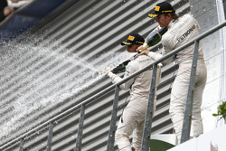 Winner Lewis Hamilton and second place Nico Rosberg, Mercedes AMG F1 W07