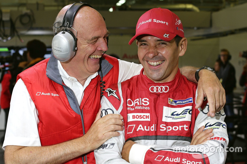 Dr. Wolfgang Ullrich, kepala dari Audi Sport bersama Benoit Tréluyer, Audi Sport Team Joest