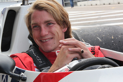Freddie Hunt in de Hesketh van vader James Hunt