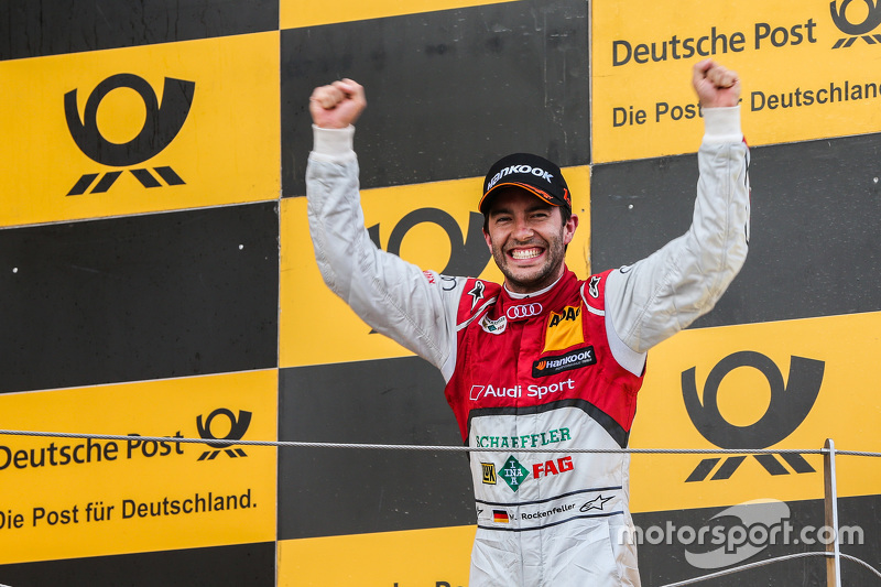 Podium: Mike Rockenfeller, Audi Sport Team Phoenix Audi RS 5 DTM