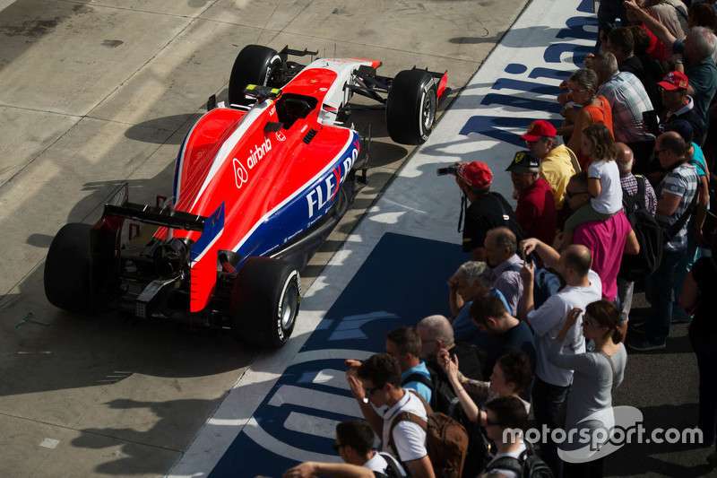 Manor Marussia F1 Team car in the pits