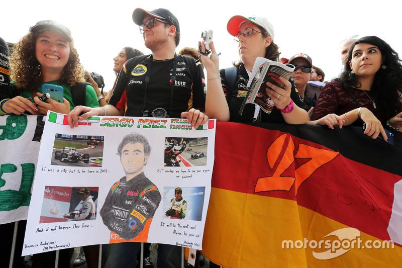 Sahara Force India F1 Team, Flaggen der Fans