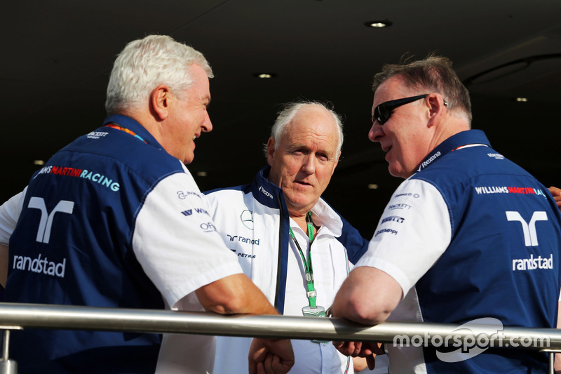Pat Symonds, Williams Chief Technical Officer with Edward Charlton, Williams Non-Executive Director and Mike O'Driscoll, Williams Group CEO