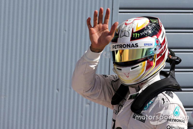 Polesitter Lewis Hamilton, Mercedes AMG F1 Team